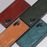 Genuine Oil Wax Leather Heavy Duty Protection Case for Samsung Galaxy S10 Note10 Series