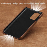Luxury Genuine Pull Up Leather Waterproof Anti-knock Case for Samsung Galaxy S20 Series