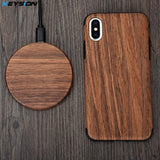 Wooden Wireless Charger for iPhone 11 Pro Max XR XS Max Xiaomi Mi9 Samsung S10 S9 S8