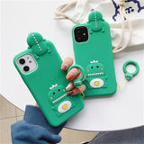 Korean Cartoon 3D Cute Dinosaur Silicone Soft Case For iPhone 11 Pro MAX XS MAX XR X