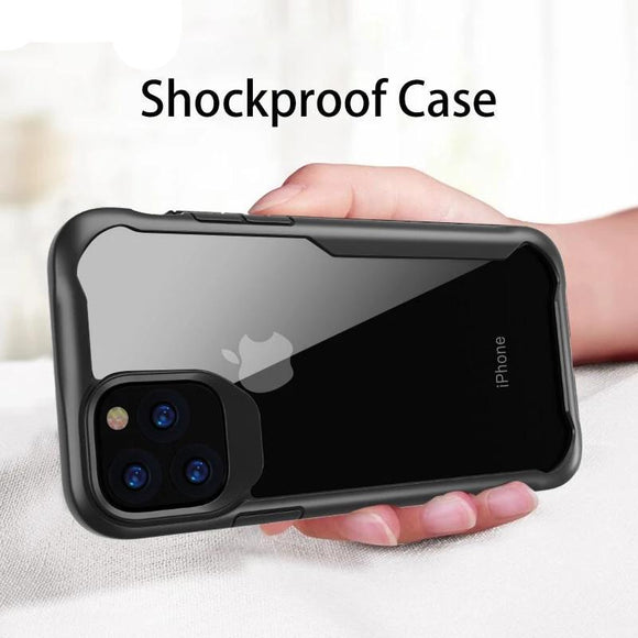 Shockproof Armor Case Transparent Luxury Silicone Cover For iPhone 11 11 Pro 11 Pro Max