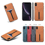 Business Style Leather With Card Holder Case for iPhone X XS Max XR 8 7 Plus