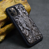 Luxury Carved 3D Stereo Ebony Wood TPU Full Protective Case For iPhone 11 Pro Max