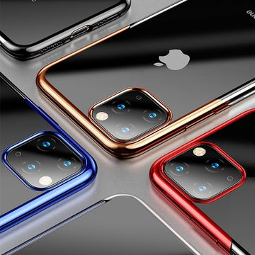 Luxury Plating Clear Transparent iPhone 11 Pro Max Cover