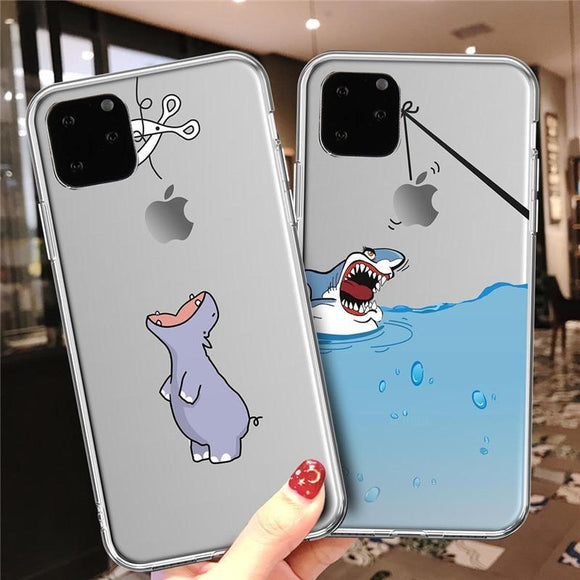Cute Animal Cartoon Case For iPhone 11 Pro Max X XS XR Max