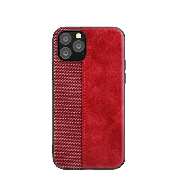 Retro PU Leather Splice Pattern Shockproof Case For iPhone 11 Series