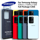 Silky Silicone Cover High Quality Soft Touch Back Protective Case for Galaxy S20 Series