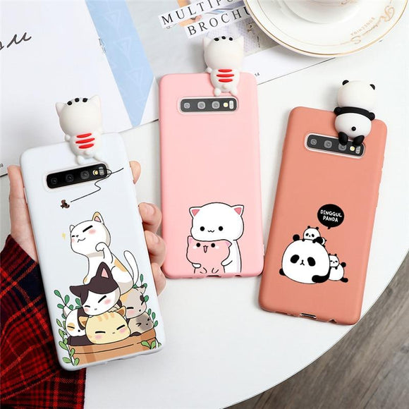 Cartoon Silicone TPU Case For Samsung Galaxy Smart Phone