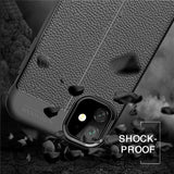 Luxury Leather PU Soft Silicone Shockproof Phone Back Cover For iPhone 11 Pro Max