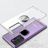 for Samsung Note 20 Ultra Case Transparent Ring Holder Case Shockproof Back Cover for Samsung Galaxy Note 20 Capa Cases|Fitted Cases