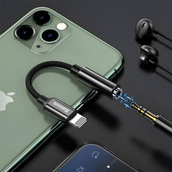 3.5mm Jack AUX Earphone Headphone Adapter Splitter for iPhone 11 Pro X XS XR