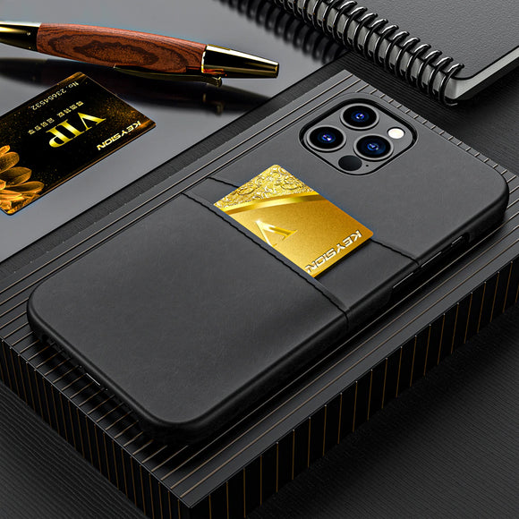 PU Leather Card Pocket Wallet Phone Case for iPhone 12 Series