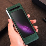 Luxury PU Leather Matte Case for Galaxy Fold W20 W2020