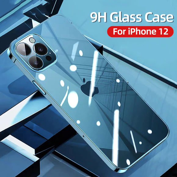 PC+TPU Shockproof Full Lens Protection Clear Case For iPhone 12 Series