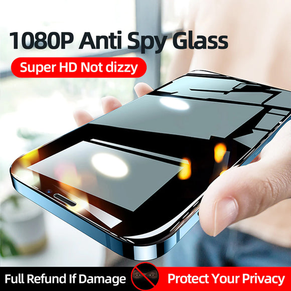 Anti Spy Tempered Glass Film Full Coverage Privacy Screen Protector For iPhone 12 11 Series