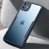 Luxury Metal Transparent Back Cover Heavy Duty Protection Waterproof Case for iPhone 12 Series