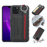 Cards Slots Cloth Wrist Strap Case for iPhone 11 Pro Max XR X Xs Max