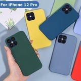 Liquid Silicone Thin Soft Case For iPhone 12 Series