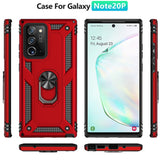 Shockproof Case with Ring Stand Back Cover for Samsung Note 20 & S20 Series