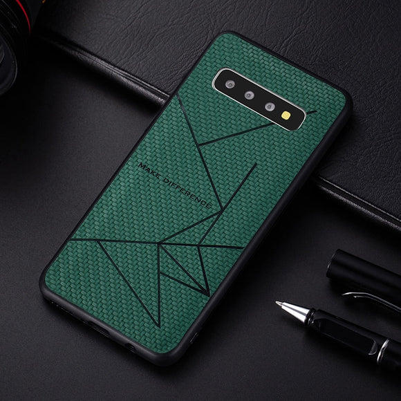 Soft Silicone Pu Leather Case For Samsung S10 S10E 5G Plus