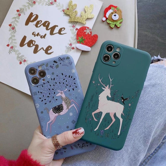 Christmas Elk Series Dust proof & Drop proof Phone case for iPhone 11 Sẻie