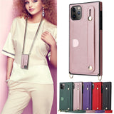 Fashion Lady Crossbody Leather Bracket Cover Case For iPhone 11 Series