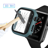 Plastic Bumper Frame Case with Glass Film for Apple Watch Series