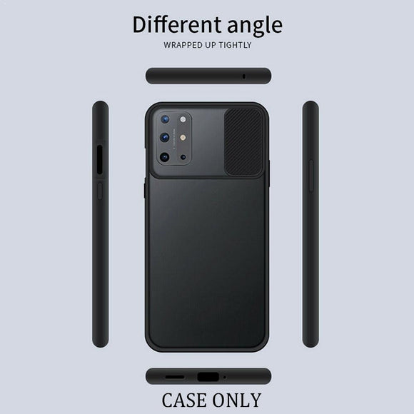 Slide Camera Lens Protection Phone Case For OnePlus 8T 5G