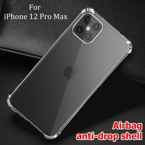 Clear TPU ShockProof Soft Silicone Case For iPhone 12 Series