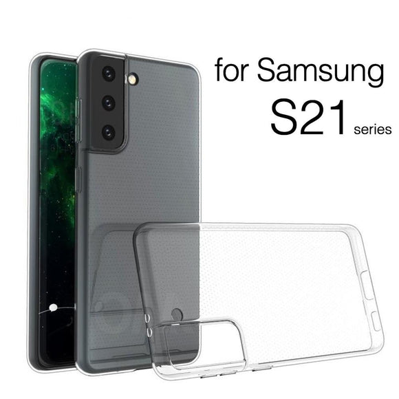 TPU Silicon Clear Soft Thin Case For Samsung Galaxy S21 / S20+Plus / S20Ultra