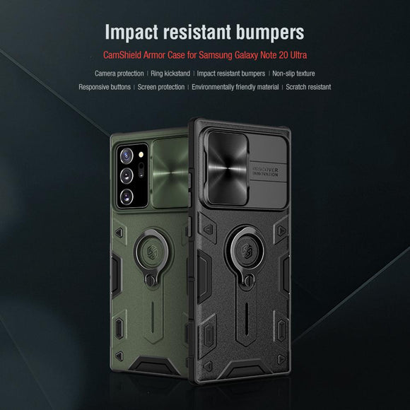 Camshield Armor Case Slide Camera TPU Protection Impact Resistant Case for Samsung Galaxy Note 20 Series