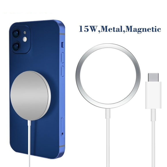 Original 15W Magnetic Magsafe Wireless Charger For iPhone Samsung Xiaomi