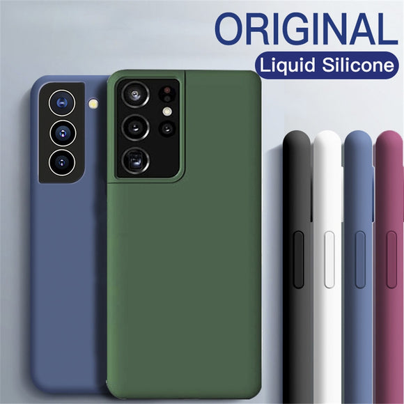 Liquid Silicone Soft TPU Ultra thin Cover For Galaxy S21 Ultra Plus