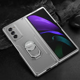 Luxury Armor Shockproof Ring Holder Flip Case For Samsung galaxy Z Fold 2