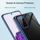 Transparent 3D Laser Plating Luxury TPU Soft Case For Samsung Galaxy S20 Series