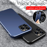 Magnet Car Magnetic Holder Soft TPU Silicone Case For iPhone 12 11 Series