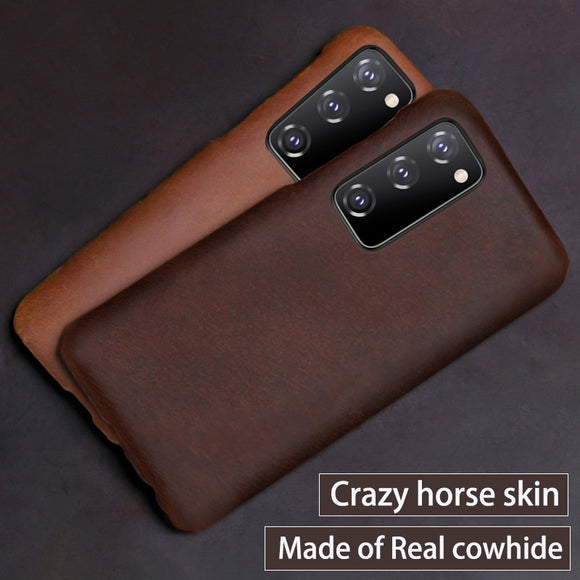 Leather Horse Skin Phone Case For Samsung Galaxy S20 Note 20 Ultra/Plus S20FE
