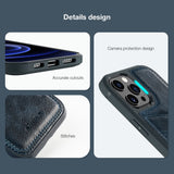 Luxury PU Leather Wallet Flip Cover Buckle Case for iPhone Phone 12 Series