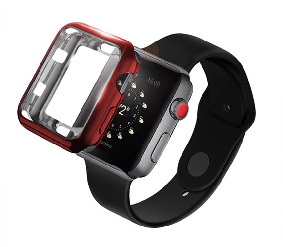 Soft Plated Clear TPU Cover Case for iWatch Series