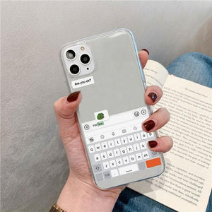 Funny Meme Transparent Case for iPhone 11 11Pro Max