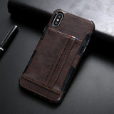 Leather protective silicone coque capas for iPhone X XS Max case