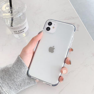 Soft TPU Transparent Shockproof Half-wrapped Case For iPhone 11 Series