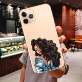Princess Female Boss Coffee Vogue Girl Mom Baby Soft Cover Case For iPhone 11 Pro Max