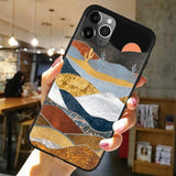 3D Relief Mountain Soft Silicone Case For iPhone 11 Series