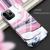 Luxury Full Protective Case Tempered Glass TPU Hard Marble Back Cover For iPhone 11 Pro Max