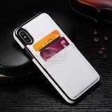 Luxury Business Style leather Back Cover For Apple iphone X XS Max XR