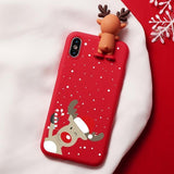 Christmas Cartoon Matte Case For iPhone XR 11 Pro XS Max X 5 5S