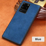 Cow Suede Genuine Leather Waterproof Heavy Duty Protection Case for Samsung Galaxy S20 Series