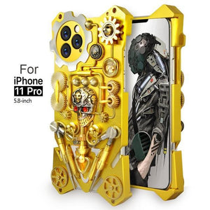 Luxury Steampunk Gear Metal Shockproof Case For iPhone 11 Series