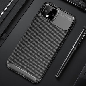Silicone Carbon Fiber Soft TPU Shockproof Case Cover For Google Pixel 3A XL 4 XL